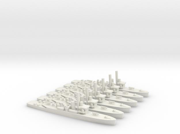 British Shoreham-Class Sloop (x6) in White Natural Versatile Plastic