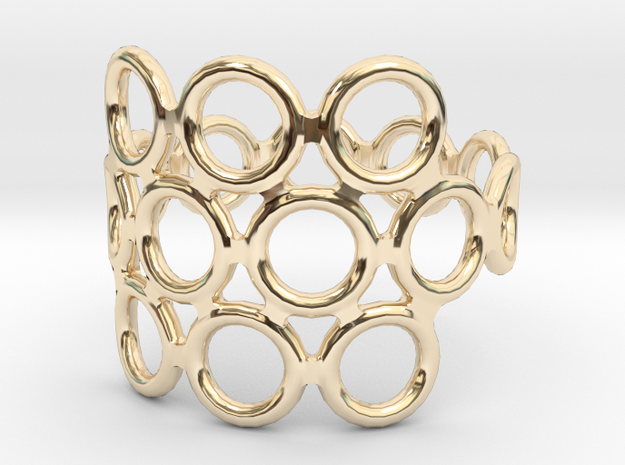 Round Bee Open 3S Ring 3d printed