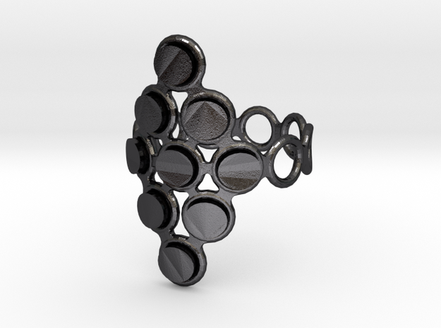 Round Bee Cylinder 3T Ring 3d printed