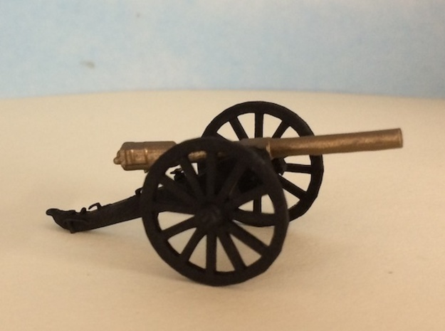 Civil War Cannon in Smooth Fine Detail Plastic: 1:64 - S