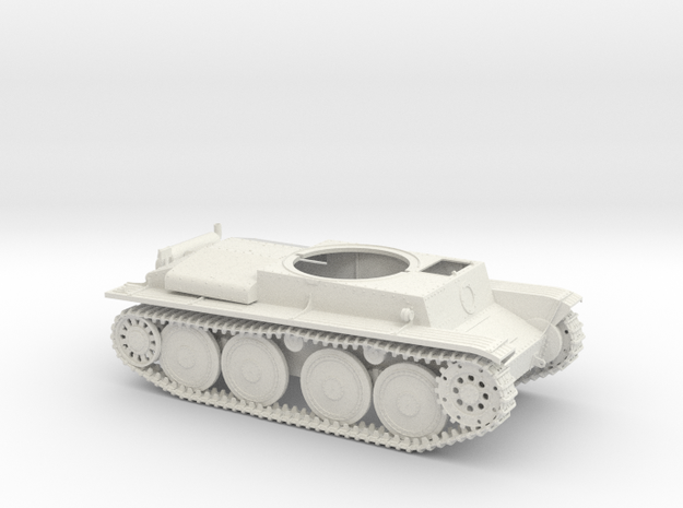 German Panzer 38t 1:18 Scale - Chassis in White Strong & Flexible