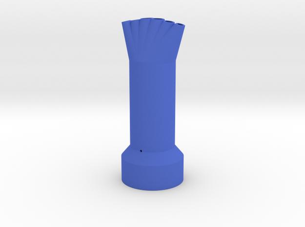 6 Mentos/Diet Soda Nozzle - 6 Spouts, 5 Mentos  in Blue Processed Versatile Plastic