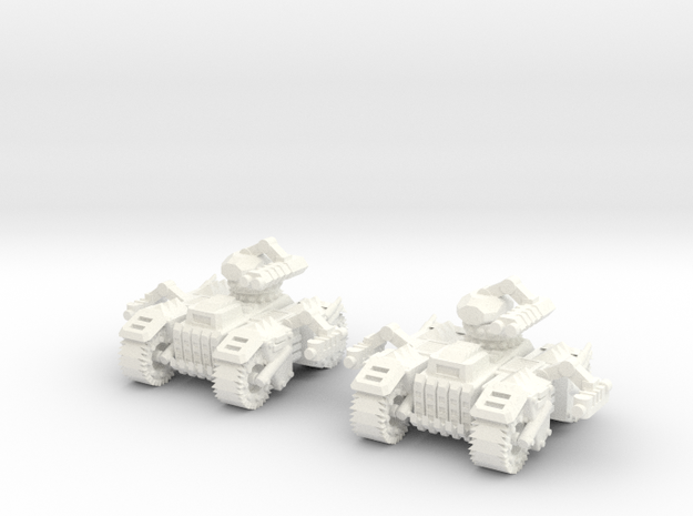 6mm - Spyder Tank in White Processed Versatile Plastic