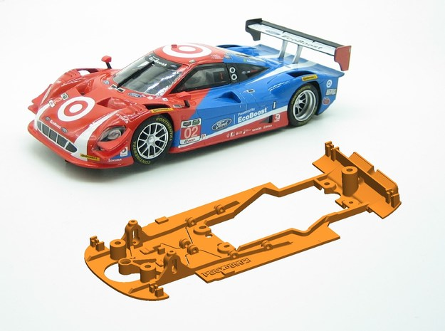 PSSX00902 Chassis for Scalextric Ford Daytona Prot in White Natural Versatile Plastic