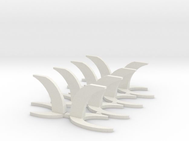 Stand for Miniature Aircraft in White Natural Versatile Plastic: Small