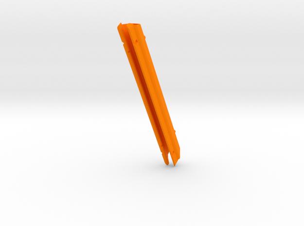 """C&C 35  pg437A   slot= 6 11/16"""" x 1/2"""" in Orange Processed Versatile Plastic"""