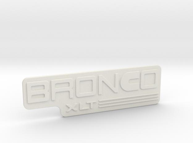 Ford BronCo Cummins badge in White Natural Versatile Plastic
