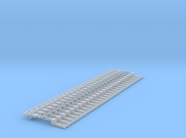 NEM OO Type 12 Couplings - Adaptor 3 Link x25 in Smooth Fine Detail Plastic