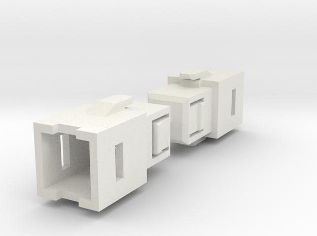 Warbotron Arm Extenders--Rev1 in White Natural Versatile Plastic