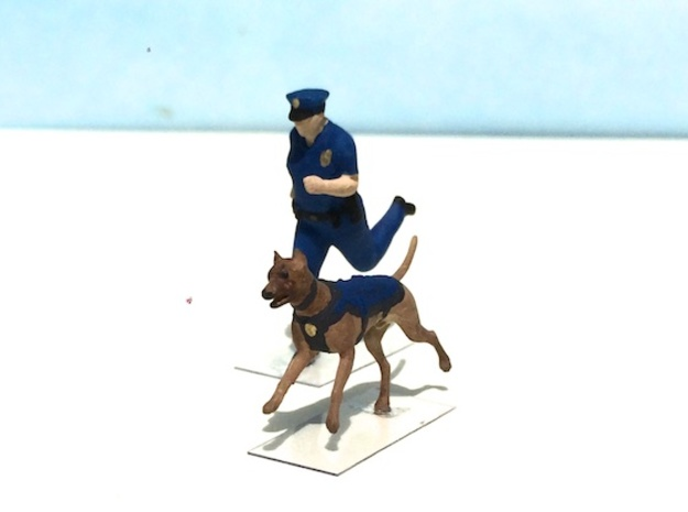 Police K-9 Unit Run in Smoothest Fine Detail Plastic: 1:64 - S