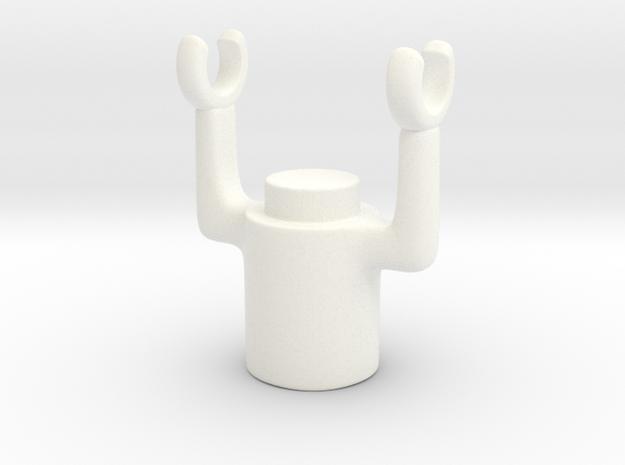 Swivel Holder in White Processed Versatile Plastic