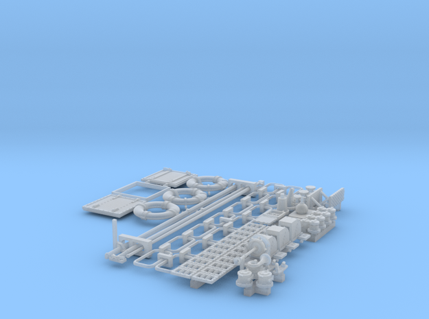 1/29 PT Boat Small Parts Set502 in Smooth Fine Detail Plastic