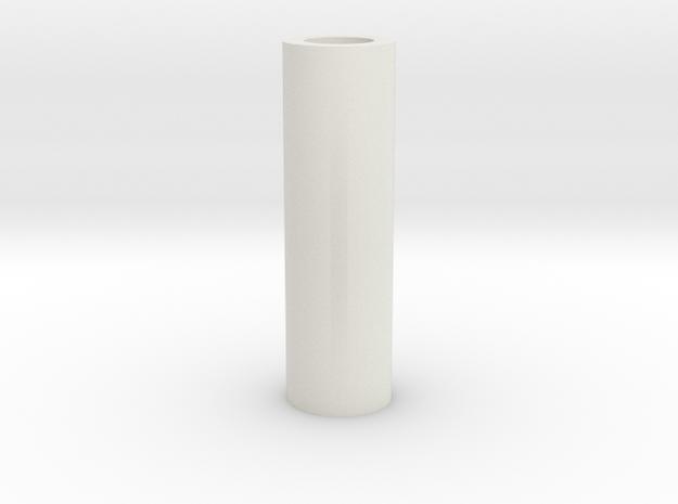 Long Tubular Spacer in White Natural Versatile Plastic