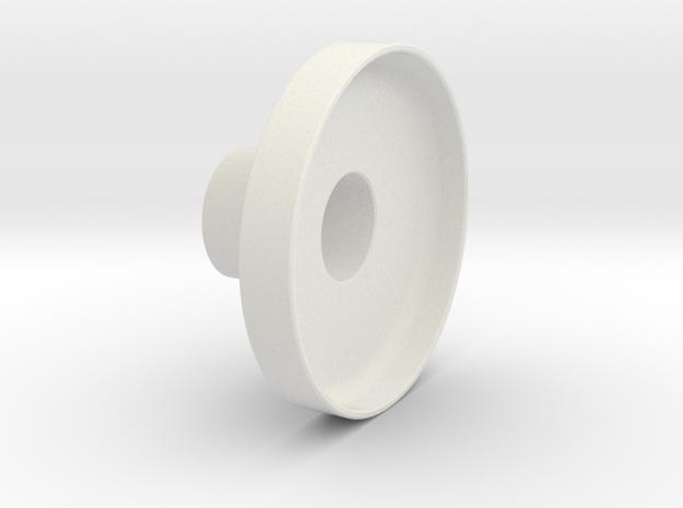 Handwheel in White Natural Versatile Plastic