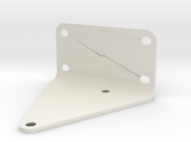 Triangular Bracket in White Natural Versatile Plastic