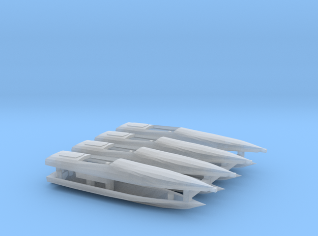 1:350 Cigarette Boats, full hull version in Smooth Fine Detail Plastic