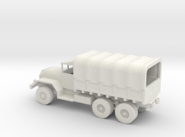 1/72 Scale M54 5 ton 6x6 Truck with cover in White Natural Versatile Plastic