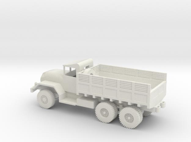 1/87 Scale M54 5 ton 6x6 Truck in White Natural Versatile Plastic