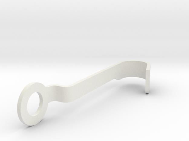Throttle handle lever in White Natural Versatile Plastic