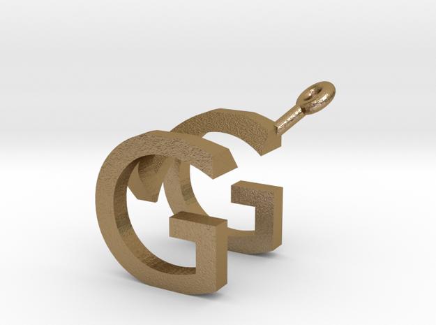 MG Earrings in Polished Gold Steel