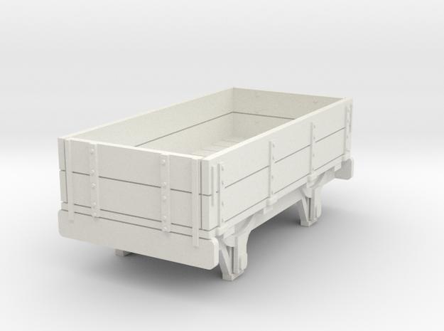 0-re-76-eskdale-2-plank-wagon in White Natural Versatile Plastic
