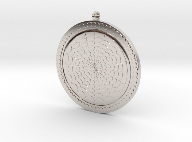 Geometric Pendant KTPF03 3D Model STL in Rhodium Plated Brass