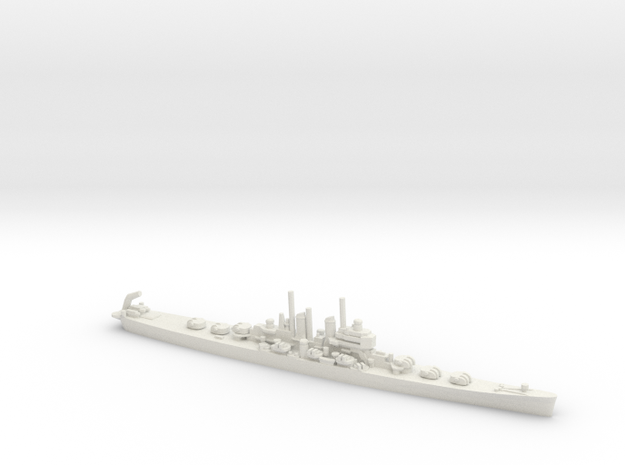 USS Worcester (CL-144) (c. 1949) in White Natural Versatile Plastic: Small