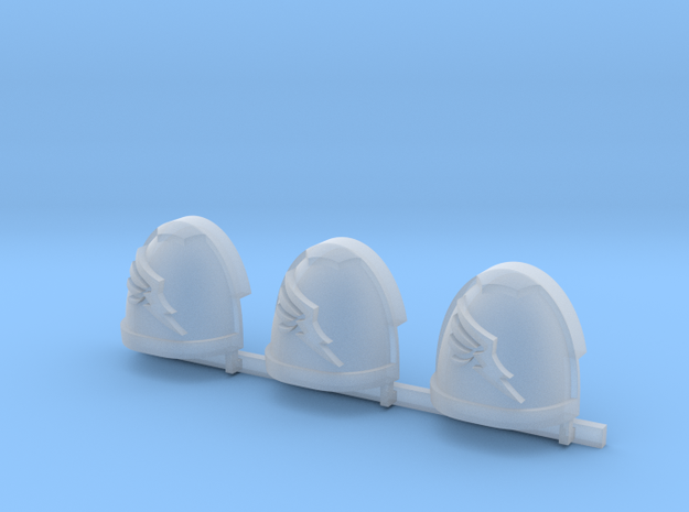 Wing Gravus shoulder pads x3 R in Smooth Fine Detail Plastic