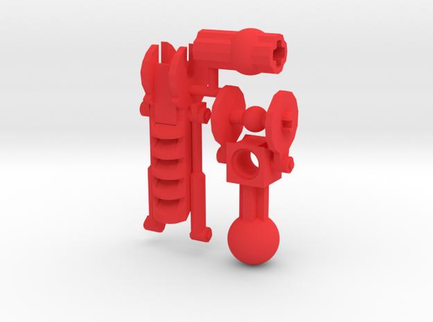 Articulated Mata Arm 2 in Red Processed Versatile Plastic