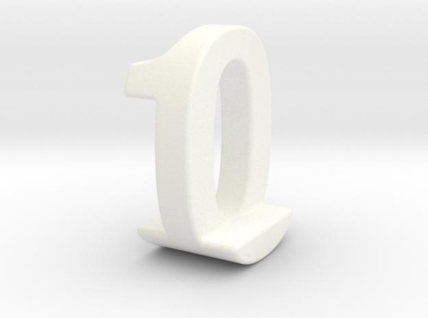 Zero One Pendant 3d printed