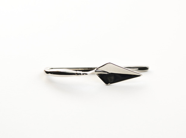 Archaeologist's Trowel Tie Bar - Archaeology Jewel in Polished Silver