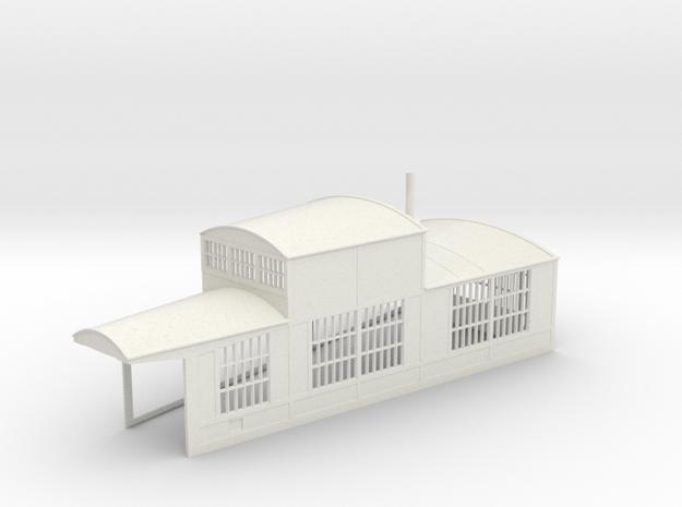 z-160-roundhouse-15-deg-right-side-section-1 in White Natural Versatile Plastic