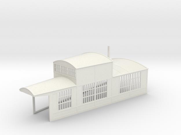 z-160-roundhouse-15-deg-right-side-section-open-1 in White Natural Versatile Plastic