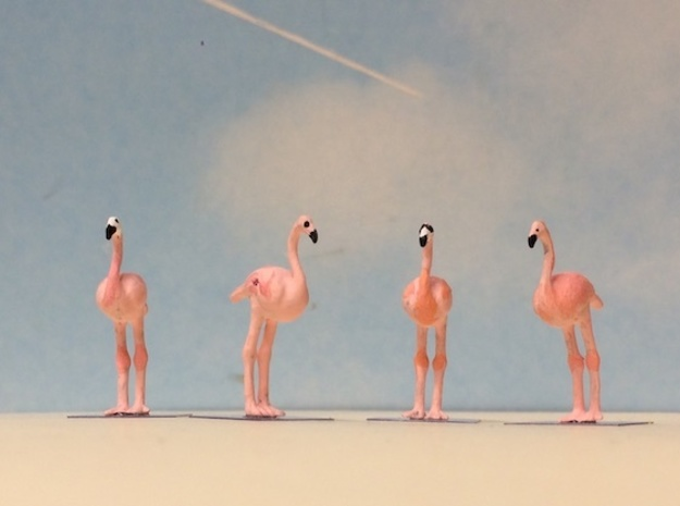 Flamingos in Smoothest Fine Detail Plastic: 1:64 - S