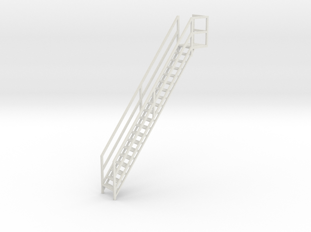 "1/64th ""S"" Scale Grain Leg/Tower Stair Section in White Natural Versatile Plastic"