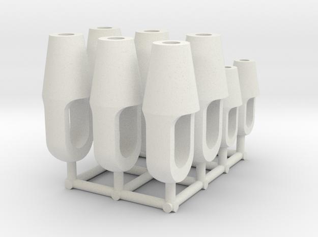 Closed spelter socket type S01 - 1:50 - 12X in White Natural Versatile Plastic