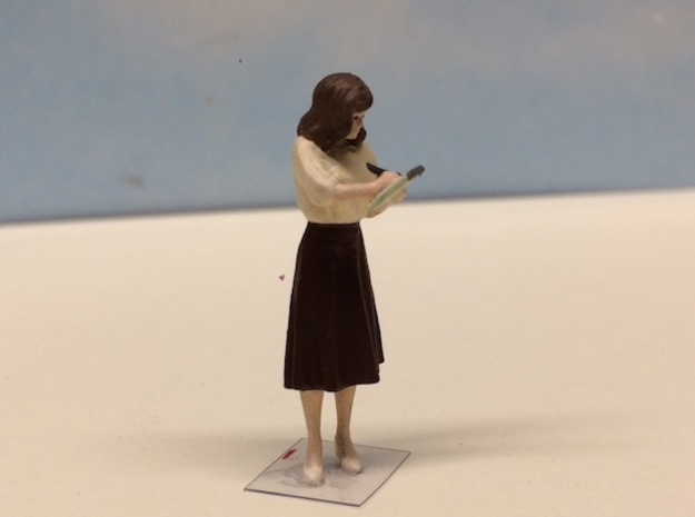 Female taking Notes 1940's in Smoothest Fine Detail Plastic: 1:64 - S