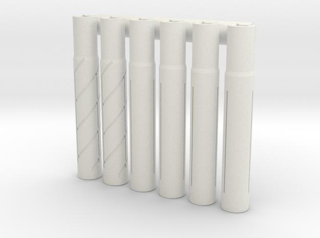 Expandable Barrel Lap (6 Pack) in White Natural Versatile Plastic