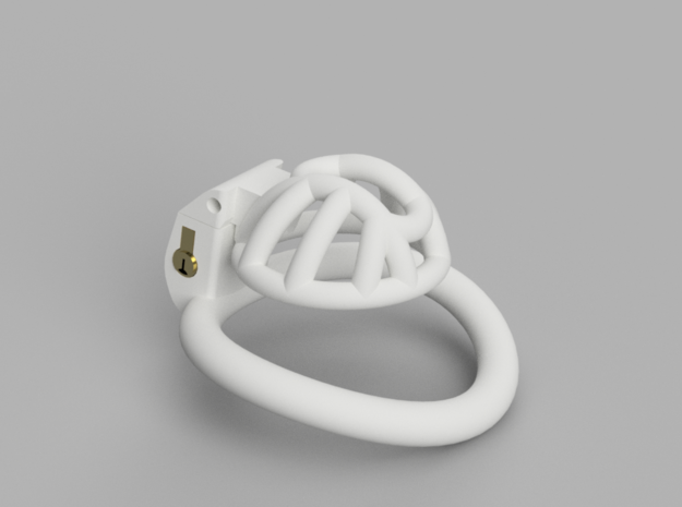 Cherry Keeper Cage - Stub in White Processed Versatile Plastic