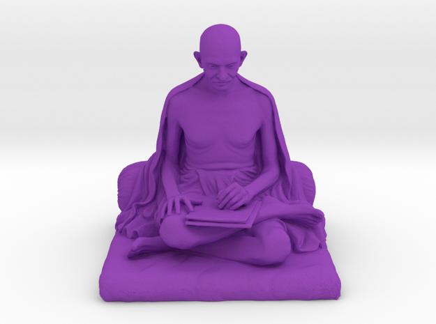 Gandhi with letter in Purple Processed Versatile Plastic: Medium