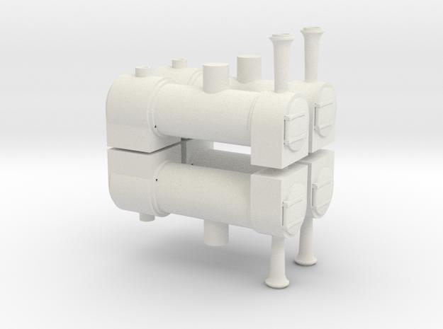 009 Kerr Stuart Skylark Boilers x 4 in White Natural Versatile Plastic