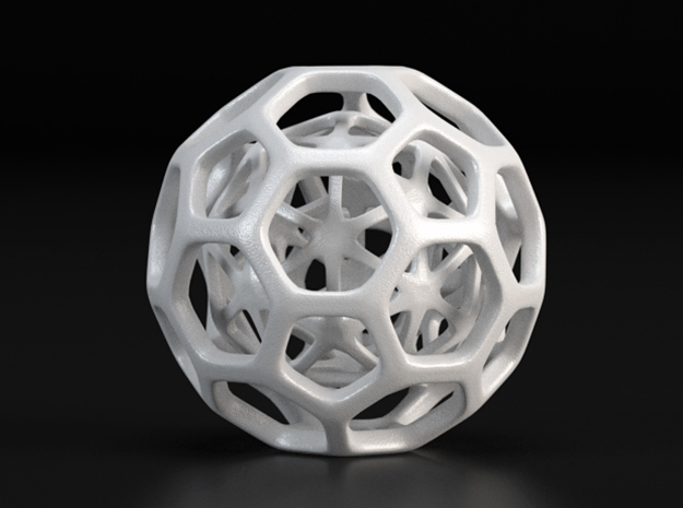 Little Hedron in White Processed Versatile Plastic