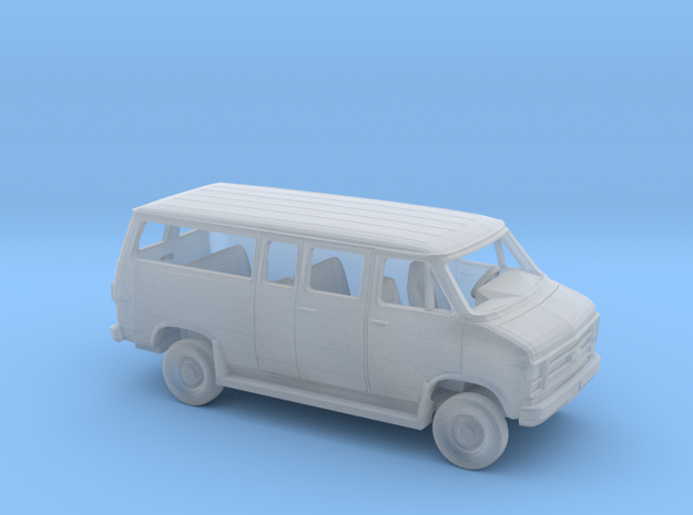 1/87 1979-83 Chevy G Van Ext with Runningboards in Smooth Fine Detail Plastic