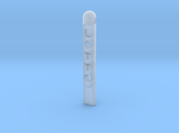 ^tool Lotto Scratch Card Scraper Ver2 3d printed Shapeways Render - Frosted Ultra Detail