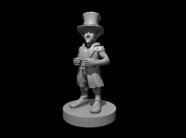 Gnome Merchant with Big Hat in Smooth Fine Detail Plastic