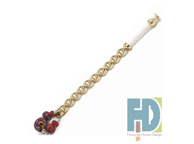 DNA - Brass or Bronze Lace Bobbin  in Polished Brass