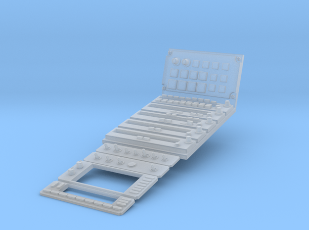 1.4 EC120 CENTRAL PANELS in Smooth Fine Detail Plastic