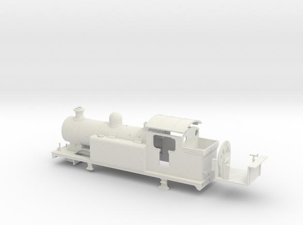 LBSCR E6-X - LBSC body in White Natural Versatile Plastic: 1:76 - OO