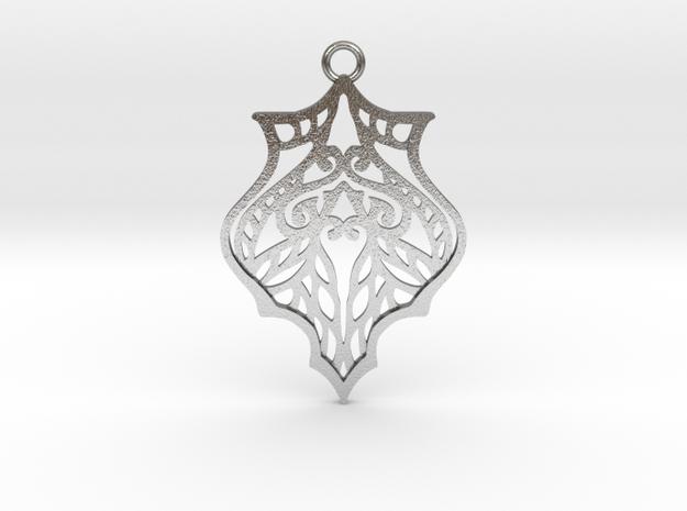 Eris pendant metal in Natural Silver: Large