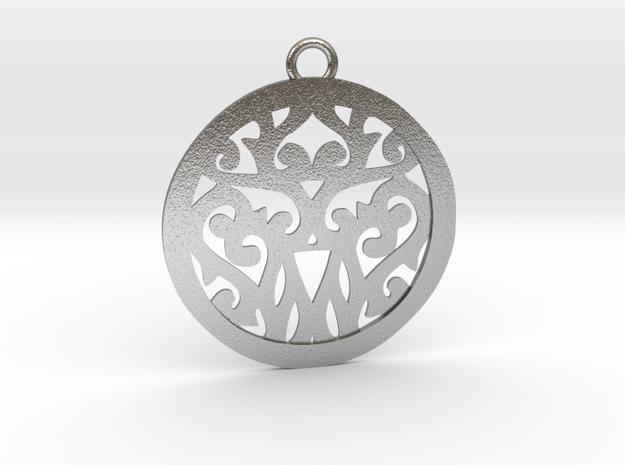 Elaine pendant metal in Natural Silver: Medium